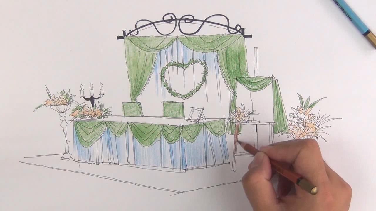 婚礼现场设计手绘教程 - 室内设计学院 - 勤学网