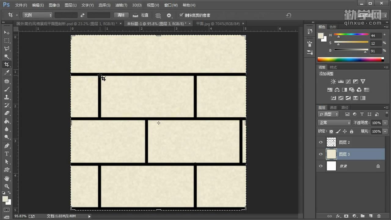 第一章 Photoshop初始设置的技巧 详细的介绍了新建纸张面板中的每一个参数应该如何设置,让绘图有一个正确的开始。介绍了如何测量图纸的长宽,以及其中局部范围的长宽,为排版工作打下基础。为了高效的绘图,我们需要调整几个首选项参数。熟悉色彩模式,CMYK和RGB的区别。如何在屏幕上预览文本实际打印出来的大小?  第二章 水彩马克笔手绘风格彩色平面图绘制案例 这里使用到了大家都很熟悉的SketchUp软件,通过特定的参数设置导出素材,并且在PS中进行了拼接。用类似的方法得到手绘风格的网格素材,在讲解铺地的时