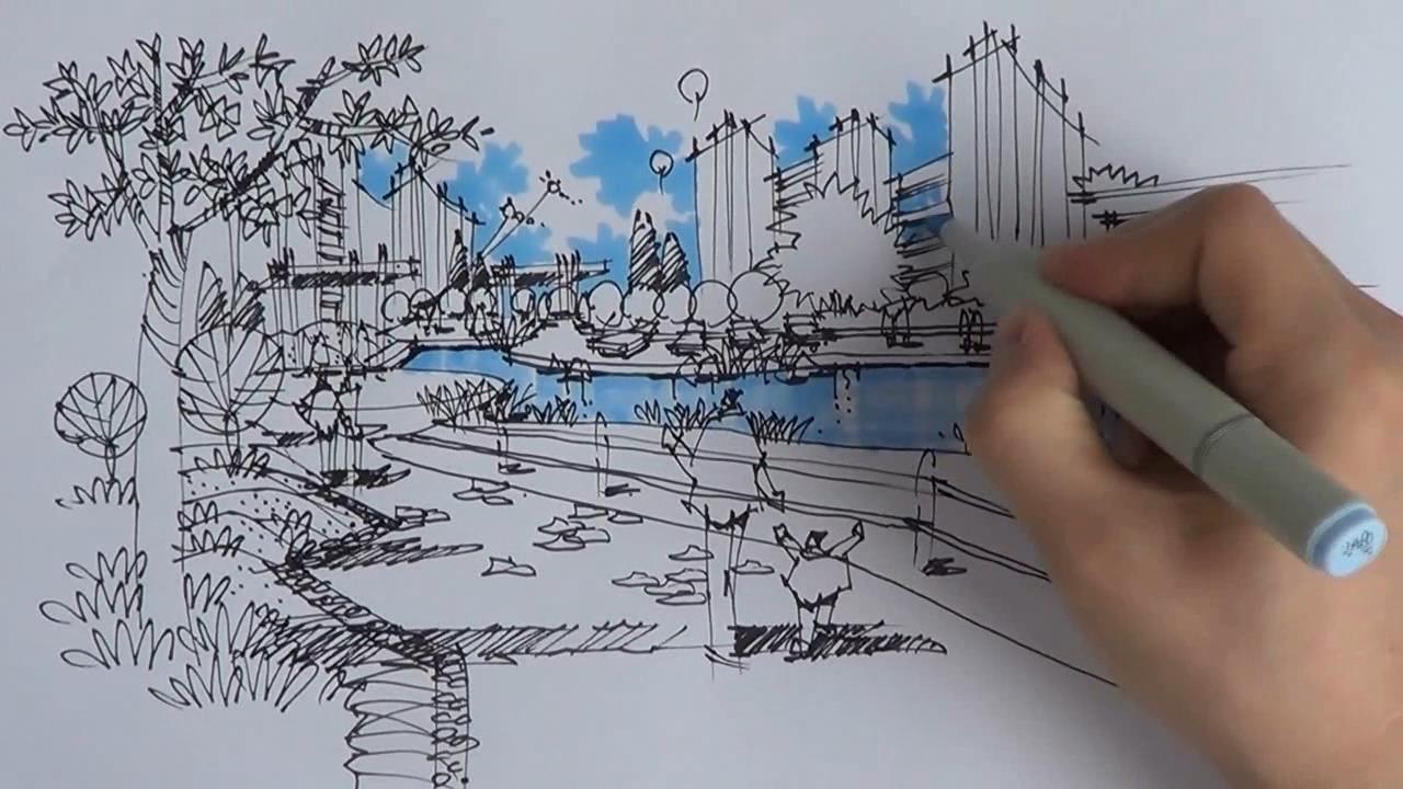 园林景观设计手绘表现教程