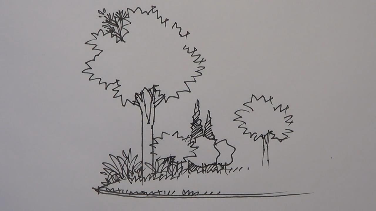 园林景观设计手绘表现教程 基础篇