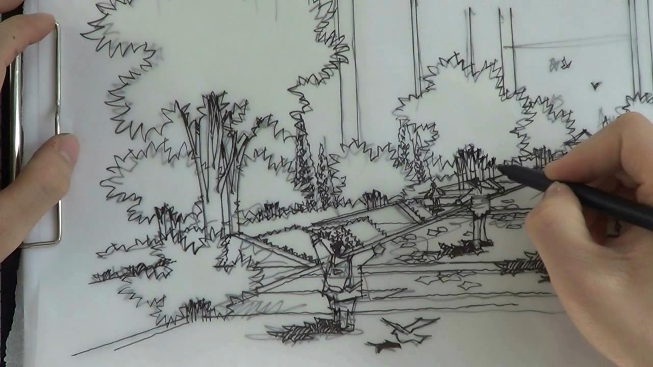 园林景观设计手绘表现教程 进阶篇