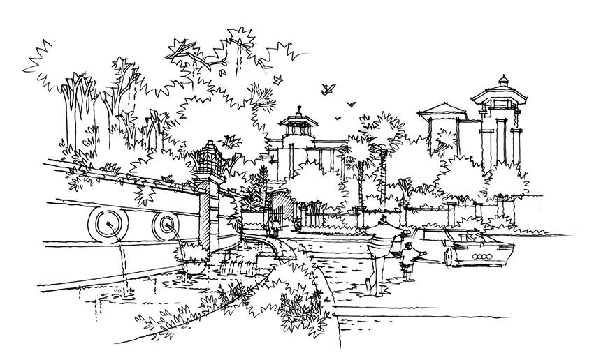 园林景观设计手绘表现教程 进阶篇图片