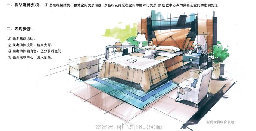 第二十四节 马克笔组合家具表现