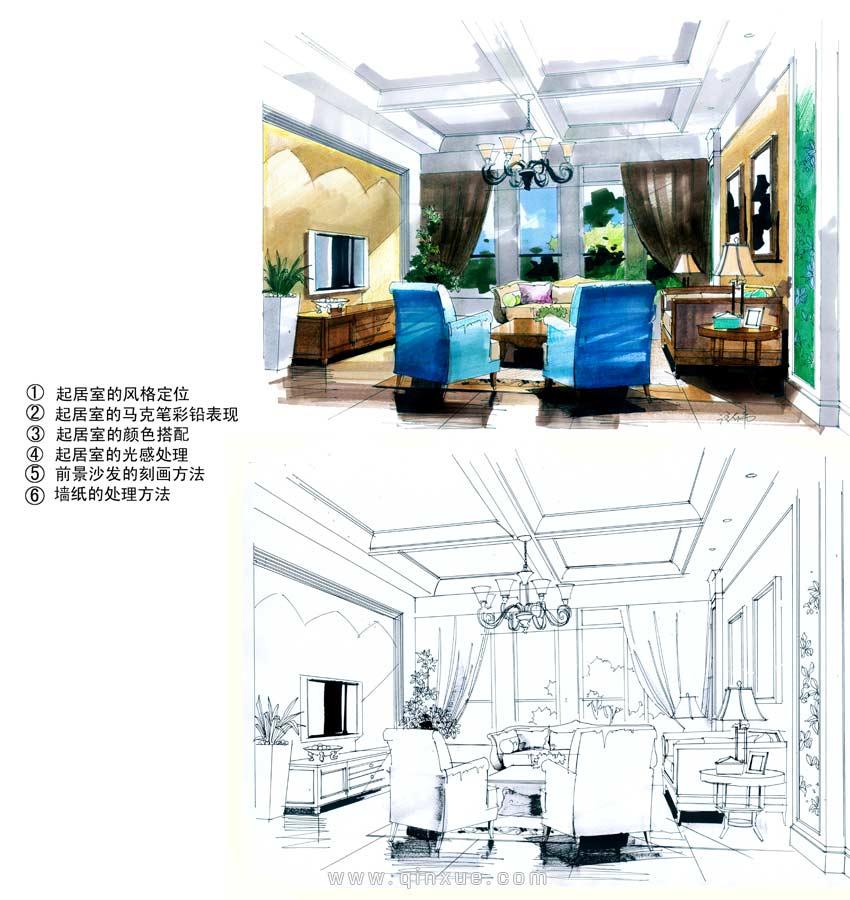 室内设计学院 > 室内设计手绘全面教程高级篇  第25节 马克笔&